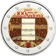 Andorra 2 Euro 2017 Stgl. 100 Jahre Hymne Andorras mit Farbmotiv