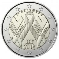 Frankreich 2 Euro 2014 bfr. Welt Aids Tag