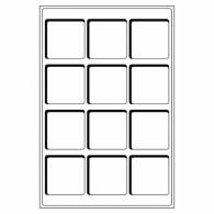 Tabelaus für Münzkoffer Münzkassetten L Format