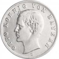 Jäger 45 Bayern 2 Mark 1888 Sehr Schön König Otto I