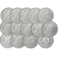 DDR 2 Mark Kursmünzen 1957 bis 1989
