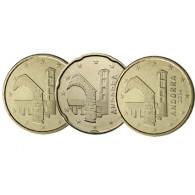Andorra  10, 20, 50 Cent 2014 bfr