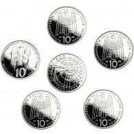 Deutschland 10 DM Silber 1999 PP 50 Jahre SOS Kinderdörfer Mzz. komplett A bis J