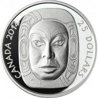 Kanada 25 Dollars 2014 PP Mond Maske Matriarchin