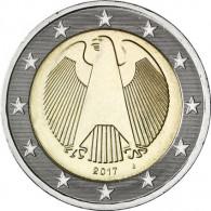 2 Euro Kursmünzen Deutschland Bundesadler 2017
