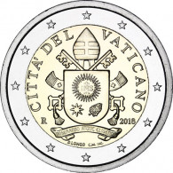 Vatikan 2 Euro Kursmünze 2018 mit dem Papst-Wappen von Franziskus
