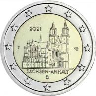 Deutschland-2-Euro-2021-Sachsen-Anhalt-Magdeburger-Dom-F-stgl-I