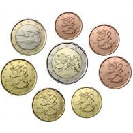 Finnland 1 Cent - 2 Euro 2012 bfr. lose im Münzstreifen