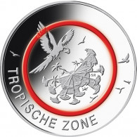 5 Euro Münze Zone Tropische Zone 2017