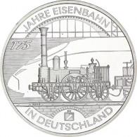 """Silbermünze 10 Euro 2010 """"175 Jahre Deutsche Eisenbahn"""""""