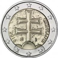 Slowakei 2 Euro Kursmuenze Doppelkreuz 2016