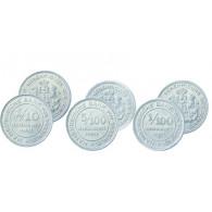 Verrechnungsmarken Hamburger Bank : N 35 - 1/100  und N 36  -  5/100 und N 37 - 1/10