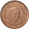 Kursmünzen aus dem Vatikan 1 Cent 2006 mit dem Motiv vom Papst Benedikt XVI.