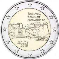 Malta 2 Euro  2016  bfr. Ggantija mit Münzzeichen: 'F' - Serie:  Prähistorische Stätten
