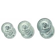 Republik Portugal 1960 - Komplett Satz Heinrich der Navigator/ Seefahrer  5,10 und 20 Escudos 1960 Silber