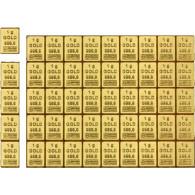 50 x 1 Gramm Feingold Tafelbarren