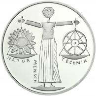 Deutschland 10 DM Silber 2000 Stgl. Natur Erde Mensch, EXPO 2000 Hannover