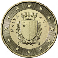 Malta 20 Cent 2011 bfr. Staatswappen Malta