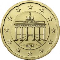 Deutschland 20 Euro-Cent 2014  Kursmünze mit Eichenzweig