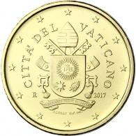 Vatikan 50 Cent 2017 Neues Motiv Papstsiegel