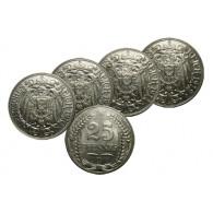 J.18 4 x 25 Pfennig 1902 bis 1912