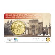 Belgien-2,5-Euro-2020-Olympische-Spiele-Antwerpen-Reliefprägung-in-Coincard