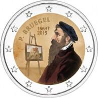 Belgien 2 Euro 2019 Stgl. 450. Todestag Pieter Bruegel d.Ä. FARBE