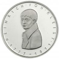 Deutschland 5 DM Silber 1977 Stgl. Heinrich von Kleist