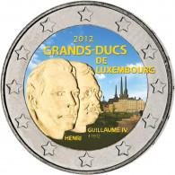 2 Euro Sondermünze aus Luxemburg in Farbe