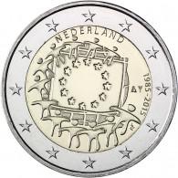 30 Jahre Europa Flagge 2 Euro Muenzen 2015