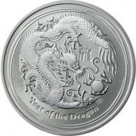 1/2 Oz Silbermünzen Australien Lunar II - Jahr des Drachen 2012