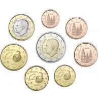 Spanien 3,88 Euro Münzen 2020  König Felipe 1 Cent - 2 Euro KMS