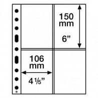 358076 - Kunststoffhüllen SH 312 , 4 Taschen Postkarten Zubehör Münzen