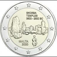 Malta-2-Euro-2020-Tempel-von-Skorba-mzz-F-bfr-