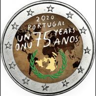 Portugal-2-Euro-2020-bfr-75-Jahre-UN-Farbe