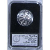 J.1534P - DDR  5 Mark  1971  Johannes Kepler Aluminium Abschlag