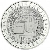 Deutschland 10 DM Silber 2001 Stgl. 50 Jahre Bundesverfassungsgericht