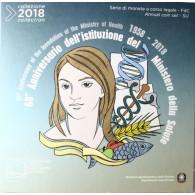 Italien 2018 BU 5,88 Euro  60. Jahrestag Gesundheitsministerium Münzkatalog mit vielen Angeboten