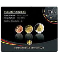 Deutschland 5,88 Euro-Kurssatz 2015 Polierte Platte Mzz :A