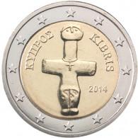 Zypern 2 Euro-Kursmünze 2014  Idol von Pomos