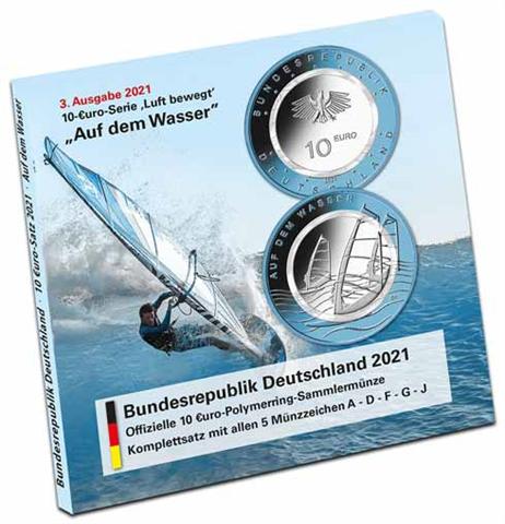 Deutschland-5-x-10-Euro-2021-Auf-dem-Wasser-im-Folder