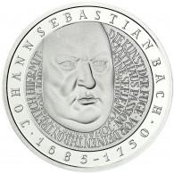 Deutschland 10 DM Silber 2000 Stgl. 250. Todestag von Johann Sebastian Bach