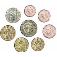 Frankreich 1 Cent - 2 Euro 2004 bfr. lose im Münzstreifen