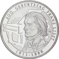 BRD 10 Euro Silber 2011 Gedenkmünze Franz Liszt