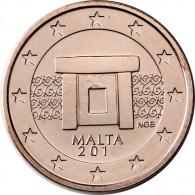 Malta 2 Cent 2011 bfr. Tempelanlage von Mnajdra