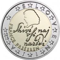 Slowenien 2 Euro Kursmünze  2015 stgl. France Prešeren