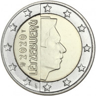 Luxemburg 2 Euro 2020 Kursmünze bfr