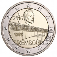 Großherzogin Charlotte Brücke 2 Euro Münze 2016