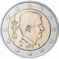 Kursmünze Belgien 2 Euro 2018 Mzz Merkurstab König Philippe Sammlung Münzkatalog