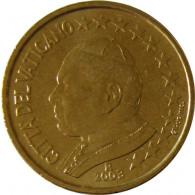 Kursmünzen  Vatikan 50 Cent 2003 Stgl. Papst Johannes Paul II Münzkatalog bestellen